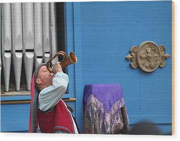 Maryland Renaissance Festival - A Fool Named O - 121218 Wood Print by DC Photographer