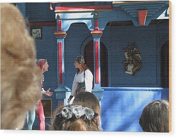 Maryland Renaissance Festival - A Fool Named O - 121225 Wood Print by DC Photographer