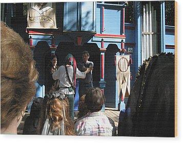 Maryland Renaissance Festival - A Fool Named O - 121228 Wood Print by DC Photographer