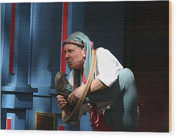 Maryland Renaissance Festival - A Fool Named O - 121234 Wood Print by DC Photographer