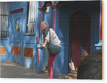Maryland Renaissance Festival - A Fool Named O - 121235 Wood Print by DC Photographer