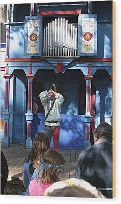 Maryland Renaissance Festival - A Fool Named O - 12124 Wood Print by DC Photographer