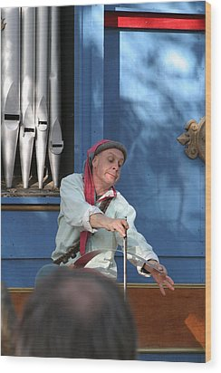 Maryland Renaissance Festival - A Fool Named O - 12129 Wood Print by DC Photographer