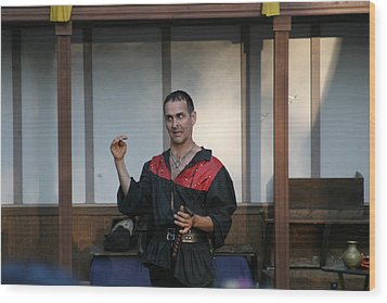 Maryland Renaissance Festival - Johnny Fox Sword Swallower - 1212121 Wood Print by DC Photographer