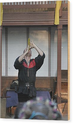 Maryland Renaissance Festival - Johnny Fox Sword Swallower - 1212125 Wood Print by DC Photographer