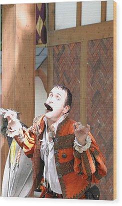 Maryland Renaissance Festival - Johnny Fox Sword Swallower - 121220 Wood Print by DC Photographer