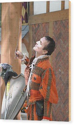 Maryland Renaissance Festival - Johnny Fox Sword Swallower - 121224 Wood Print by DC Photographer