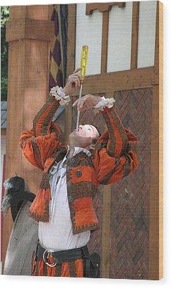 Maryland Renaissance Festival - Johnny Fox Sword Swallower - 121243 Wood Print by DC Photographer
