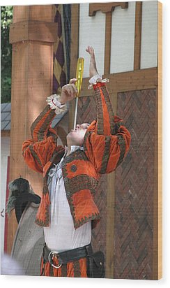 Maryland Renaissance Festival - Johnny Fox Sword Swallower - 121244 Wood Print by DC Photographer