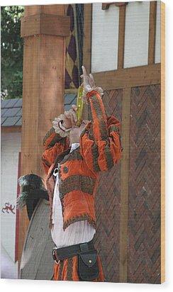 Maryland Renaissance Festival - Johnny Fox Sword Swallower - 121246 Wood Print by DC Photographer