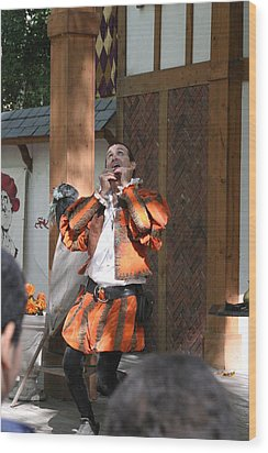 Maryland Renaissance Festival - Johnny Fox Sword Swallower - 121254 Wood Print by DC Photographer