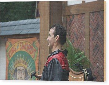 Maryland Renaissance Festival - Johnny Fox Sword Swallower - 121271 Wood Print by DC Photographer