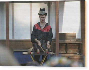 Maryland Renaissance Festival - Johnny Fox Sword Swallower - 121281 Wood Print by DC Photographer