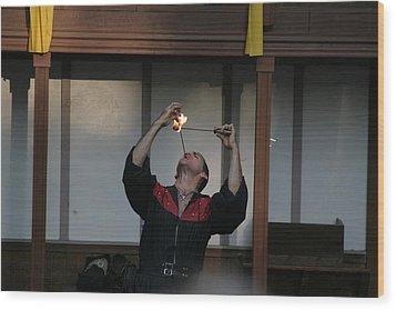 Maryland Renaissance Festival - Johnny Fox Sword Swallower - 121292 Wood Print by DC Photographer