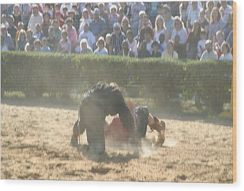 Maryland Renaissance Festival - Jousting And Sword Fighting - 1212102 Wood Print by DC Photographer