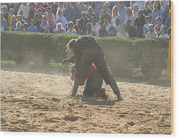 Maryland Renaissance Festival - Jousting And Sword Fighting - 1212105 Wood Print by DC Photographer