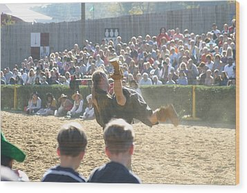 Maryland Renaissance Festival - Jousting And Sword Fighting - 1212110 Wood Print by DC Photographer