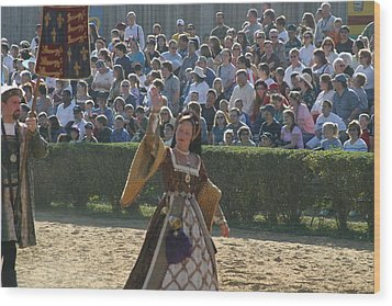 Maryland Renaissance Festival - Jousting And Sword Fighting - 1212117 Wood Print by DC Photographer