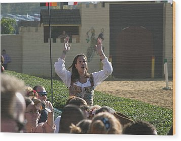 Maryland Renaissance Festival - Jousting And Sword Fighting - 1212122 Wood Print by DC Photographer