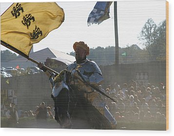 Maryland Renaissance Festival - Jousting And Sword Fighting - 1212130 Wood Print by DC Photographer