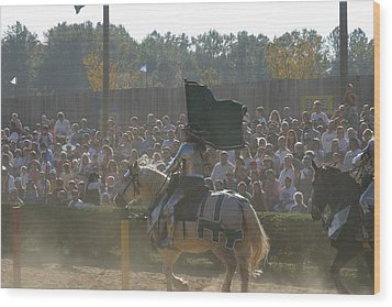 Maryland Renaissance Festival - Jousting And Sword Fighting - 1212132 Wood Print by DC Photographer