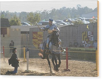 Maryland Renaissance Festival - Jousting And Sword Fighting - 1212160 Wood Print by DC Photographer