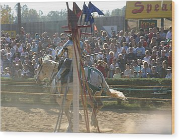 Maryland Renaissance Festival - Jousting And Sword Fighting - 1212166 Wood Print by DC Photographer