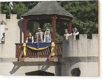 Maryland Renaissance Festival - Jousting And Sword Fighting - 1212170 Wood Print by DC Photographer