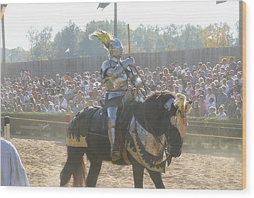 Maryland Renaissance Festival - Jousting And Sword Fighting - 1212171 Wood Print by DC Photographer