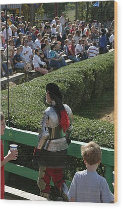 Maryland Renaissance Festival - Jousting And Sword Fighting - 1212198 Wood Print by DC Photographer