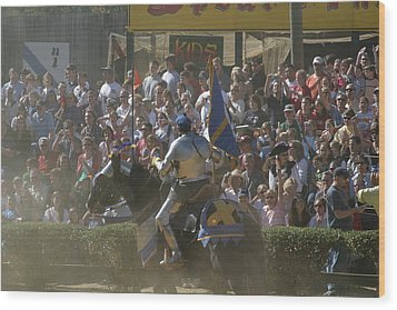 Maryland Renaissance Festival - Jousting And Sword Fighting - 1212201 Wood Print by DC Photographer