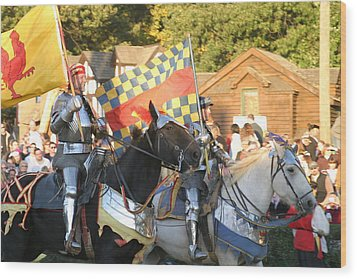 Maryland Renaissance Festival - Jousting And Sword Fighting - 121224 Wood Print by DC Photographer