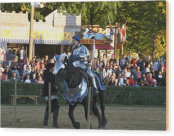 Maryland Renaissance Festival - Jousting And Sword Fighting - 121232 Wood Print by DC Photographer