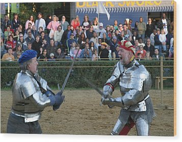 Maryland Renaissance Festival - Jousting And Sword Fighting - 121241 Wood Print by DC Photographer