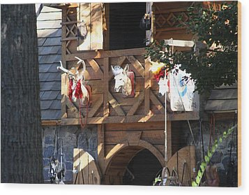 Maryland Renaissance Festival - Merchants - 121237 Wood Print by DC Photographer