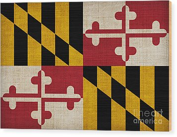 Maryland State Flag Wood Print by Pixel Chimp