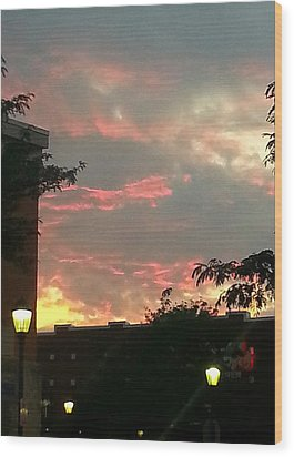 Maryland Sunset Sky Wood Print by Joetta Beauford