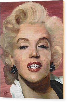 Marylin Monroe Wood Print by James Shepherd