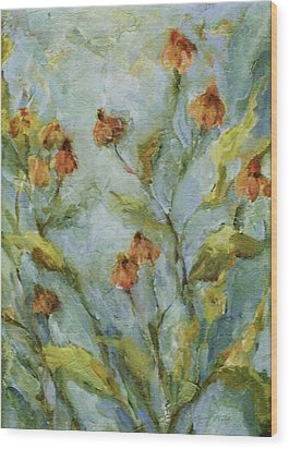 Wood Print featuring the painting Mary's Garden by Mary Wolf
