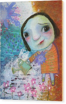 Mary's Quite Contrary Wood Print by Shirley Dawson
