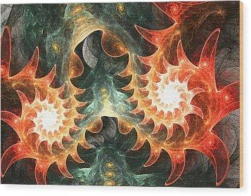 Mas Que La Cara Wood Print by Anastasiya Malakhova