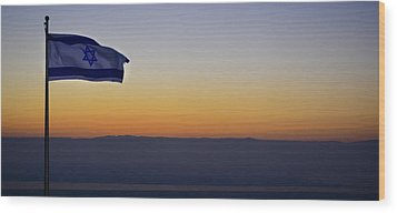 Masada At Sunrise Wood Print