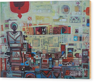 Maseed Maseed 2 Wood Print by Mohamed Fadul