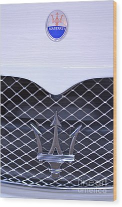 Maserati Emblems Wood Print