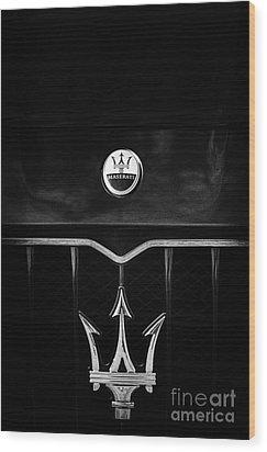 Maserati Quattroporte Monochrome Wood Print
