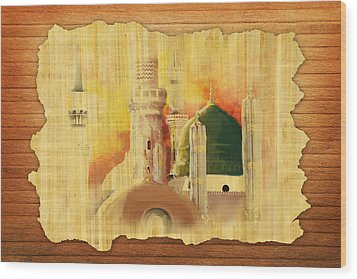 Masjid E Nabwi 02 Wood Print by Catf