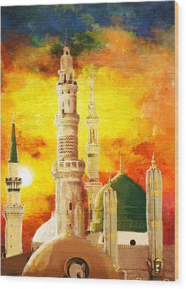 Masjid E Nabwi Wood Print by Catf