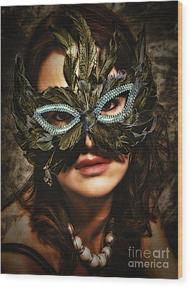 Mask  No. 2  ... Wood Print
