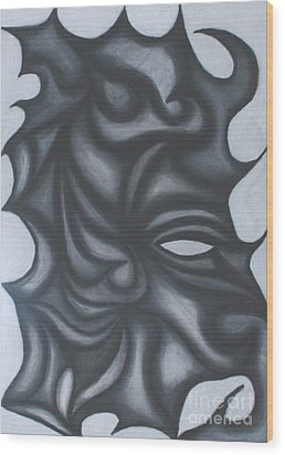 Mask Wood Print by Jamie Lynn