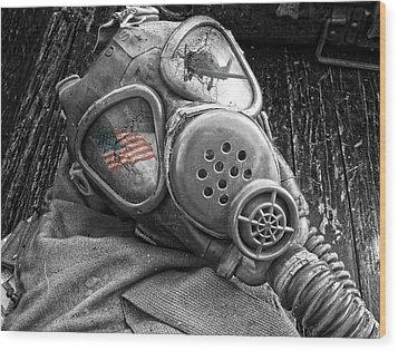 Masked Freedom Wood Print